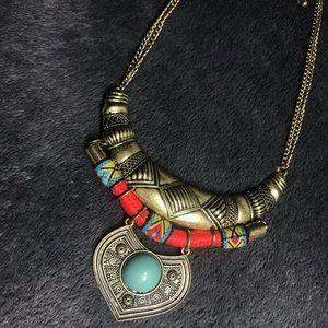 Aztec/Bohemian Look Statement Necklace